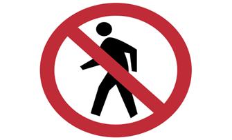 no-pedesterian-crossing-sign